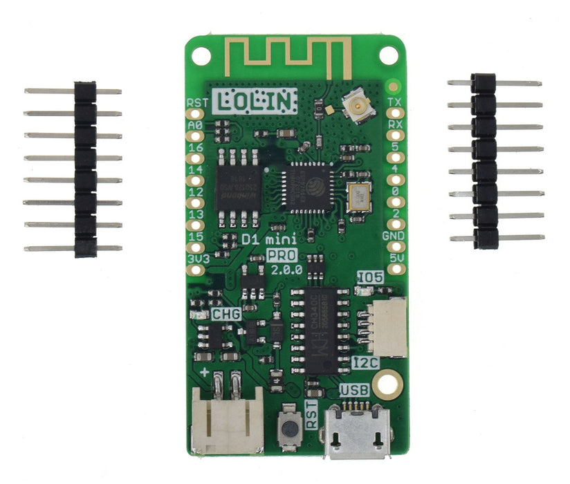 WeMos LoLin D1 Mini Pro - 16MB ESP8266 Boards in packs of ten from PMD Way with free delivery worldwide