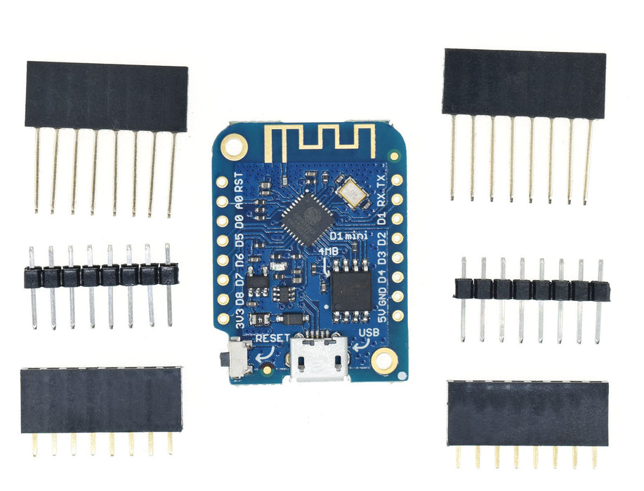 WeMos LoLin D1 Mini ESP8266 Board in packs of two from PMD Way with free delivery worldwide