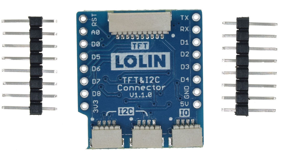 WeMos LoLin D1 Mini TFT I2C Connector Shields in packs of two from PMD Way with free delivery worlwide