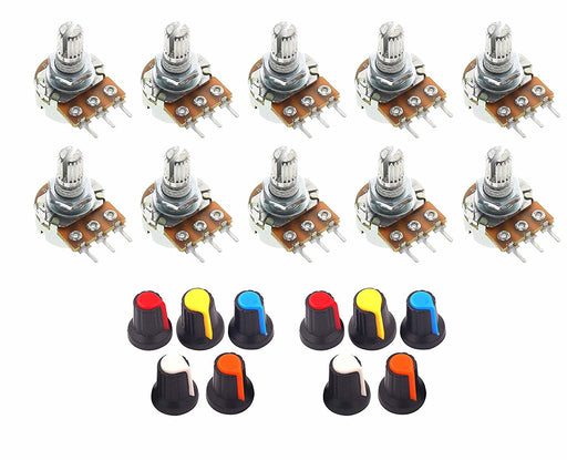 Linear WH148 Potentiometers with Knobs - 10 Pack from PMD Way with free delivery worldwide