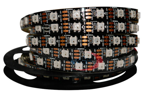 WS2812B RGB LED Strip - 60 LED/m - 4m Roll - Black PCB from PMD Way with free delivery worldwide