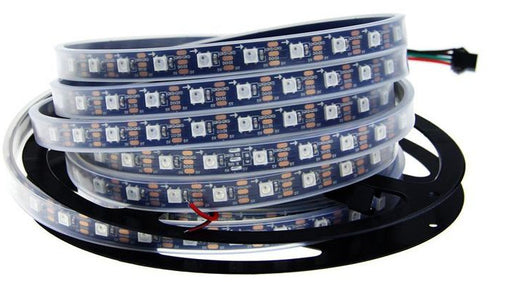 WS2812B RGB LED Strip - 60 LED/m - 4m Roll - Black PCB - IP65 from PMD Way with free delivery worldwide