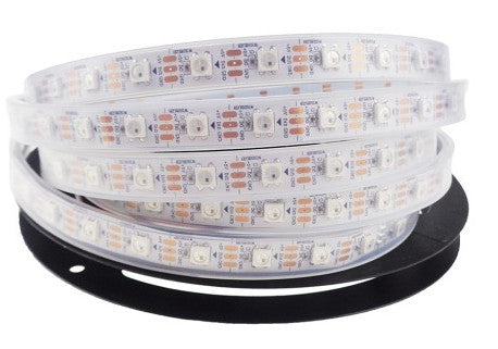 WS2812B RGB LED Strip - 60 LED/m - 4m Roll - White PCB - IP65 from PMD Way with free delivery worldwide