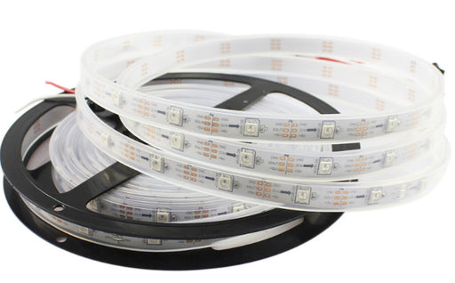 WS2812B RGB LED Strip - 30 LED/m - 5m Roll - White PCB - IP65 from PMD Way with free delivery worldwide