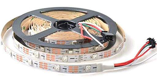 WS2812B RGB LED Strip - 30 LED/m - 5m Roll - White PCB from PMD Way with free delivery worldwide