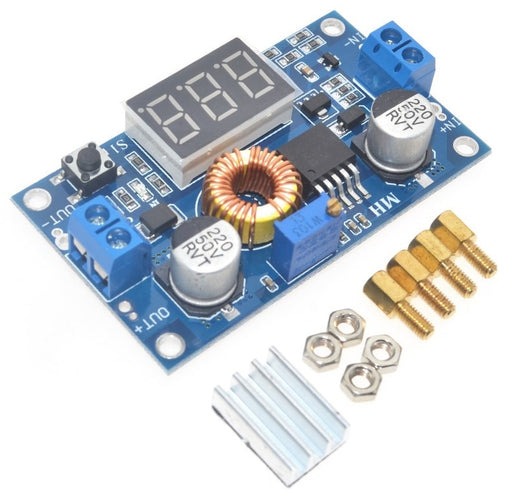 XL4015 Adjustable DC DC Buck Converter with Display 38 to 1.25V from PMD Way with free delivery worldwide