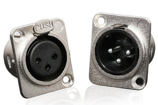 XLR Chassis Panel Mount Connectors - Male or Female from PMD Way with free delivery worldwide