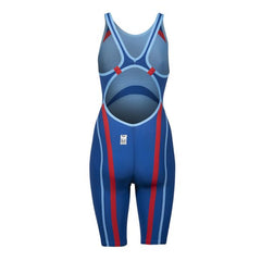 Arena Carbon Core FX Women's Open Back Racesuit- Ocean Blue