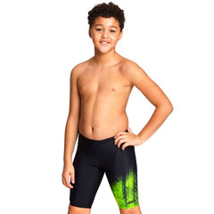 Zoggs Boy's Irony Jammer- Black/Green