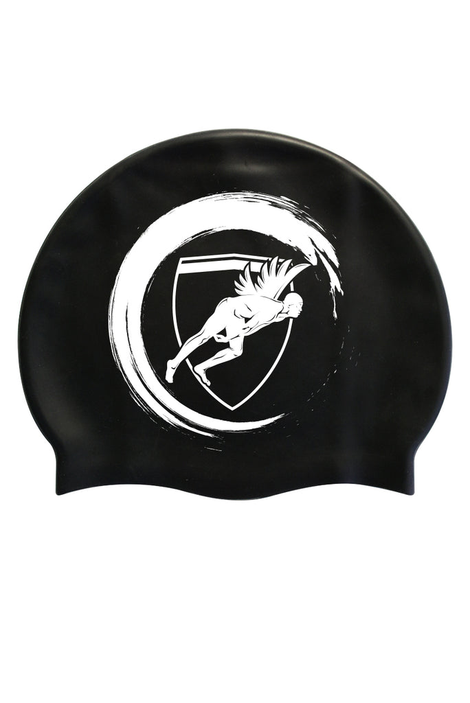 Engine Black/White Wave Swim Cap