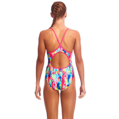 Funkita Girl's Diamond Back One Piece- Slapped On