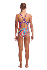 Funkita Girl's Diamond Back One Piece- Top Spot