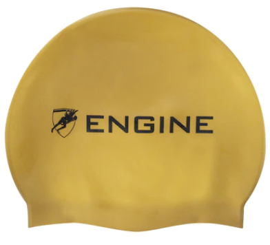 Engine Swim Cap- Gold