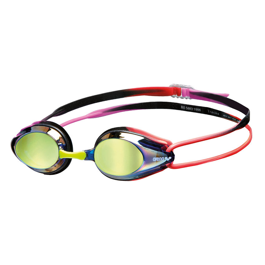 Arena Tracks Mirrored Goggle- Purple/Black/Red