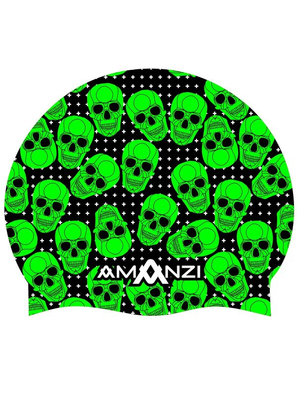 Amanzi Swim Cap- Bone Yard