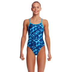 Funkita Girl's Diamond Back One Piece- Another Dimension