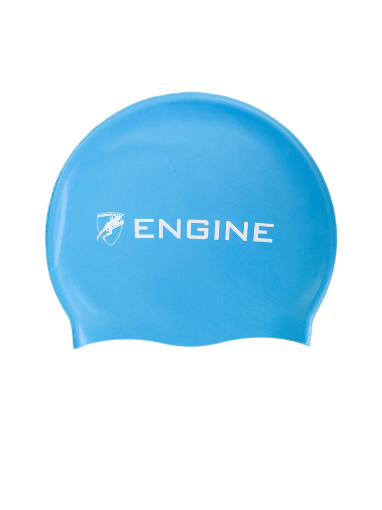 Engine Blue Swim Cap