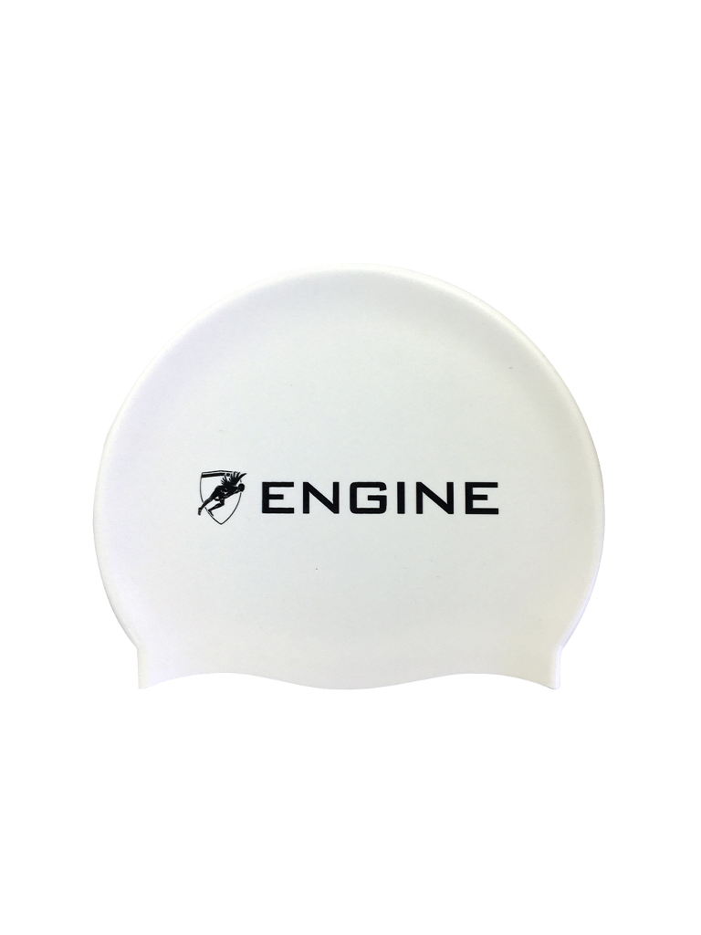 Engine Swim Cap- White