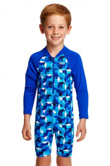 Funky Trunk's Boy's Go Jumpsuit One Piece- Ice Fortress