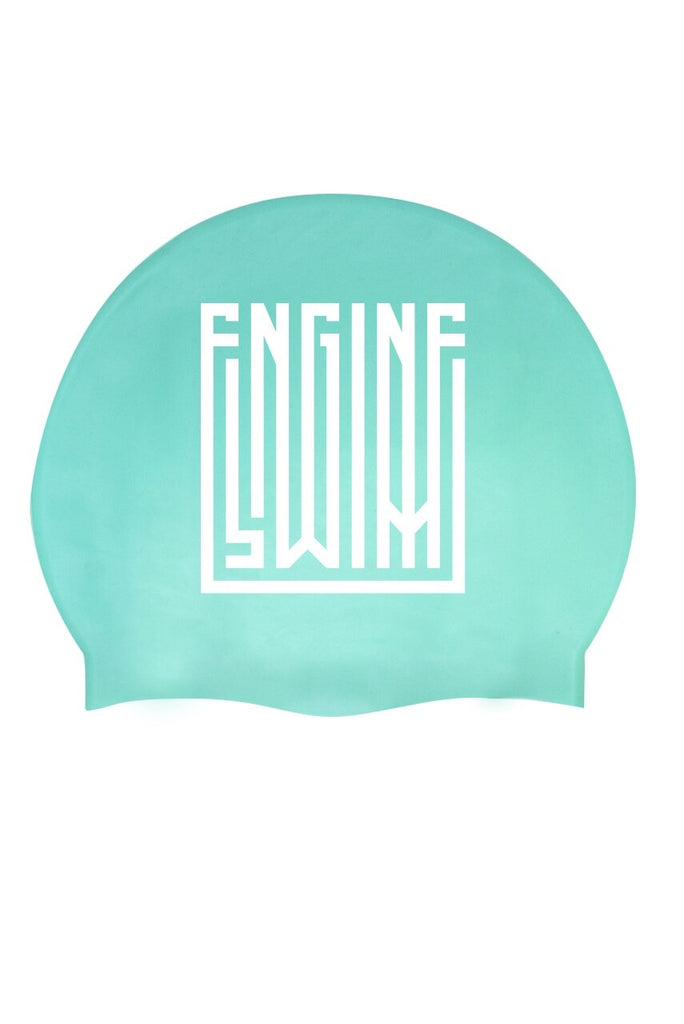 Engine Swim Cap- Lane Lines Teal