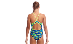 Funkita Girl's Diamond Back One Piece- Magnum Pi