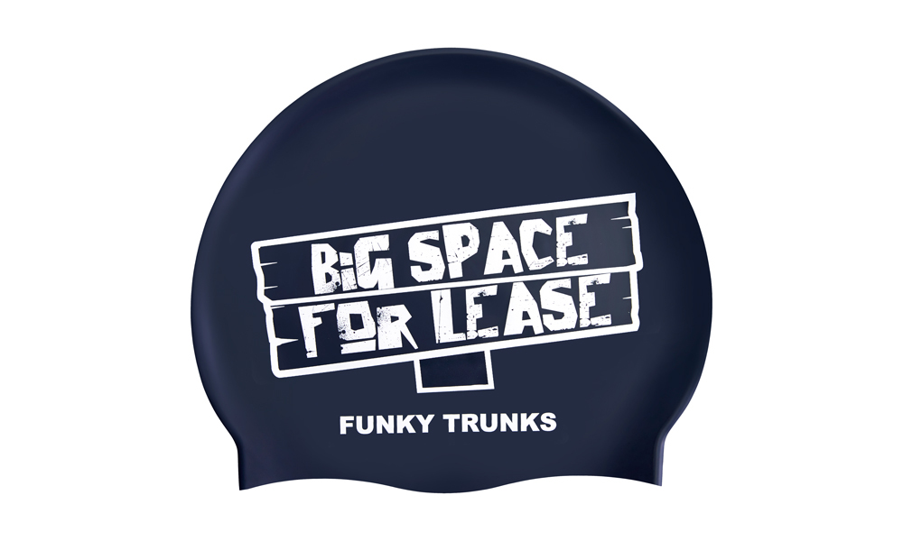 Funky Trunk Swim Cap- Space For Lease