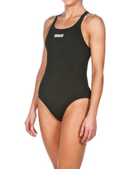 Arena Women's Solid Swim Pro One Piece- Black