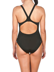 Arena Women's Solid Swim Pro Black One Piece