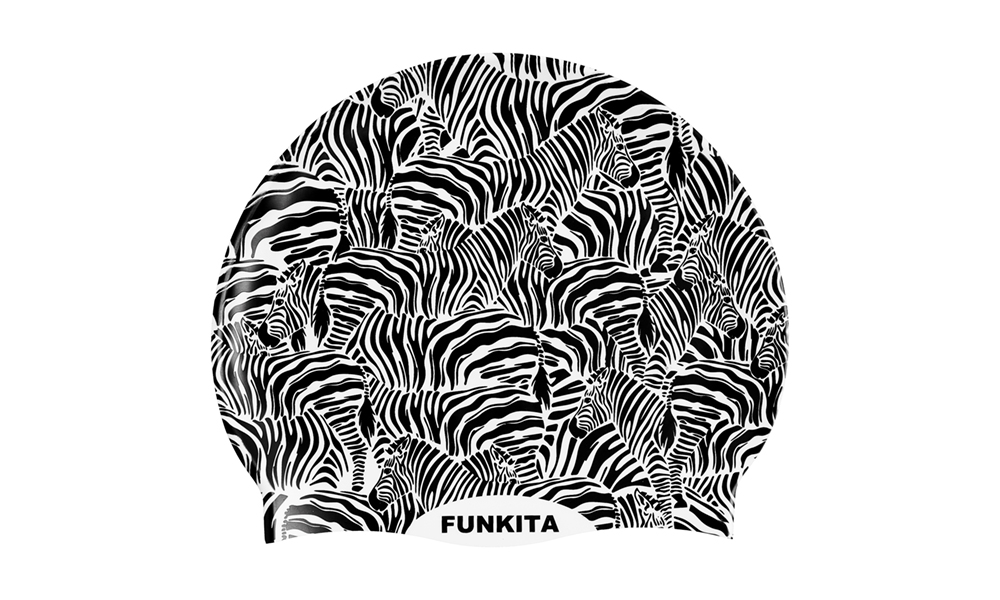 Funkita Swim Cap- Zebra Crossing