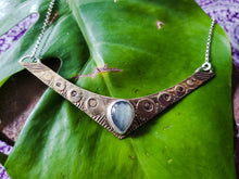 Load image into Gallery viewer, Labradorite Shield Pendant