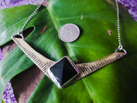 Black Pyramid Shield Pendant