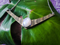 Mother of Pearl Shield Pendant
