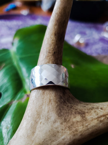 Diamond print Sterling ring