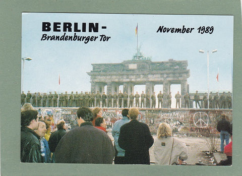 AK Berlin. Brandenburger Tor November 1989.