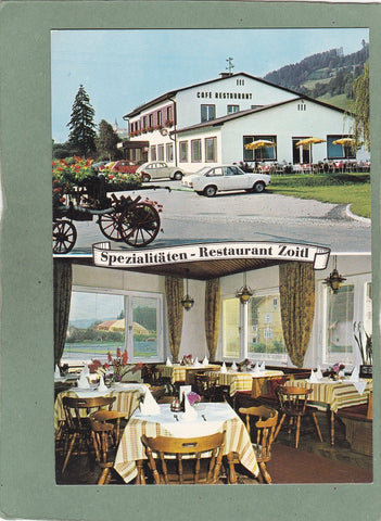AK Bad St. Leonhard 311. Emil und Gerlinde Zoitl. Cafe Restaurant.