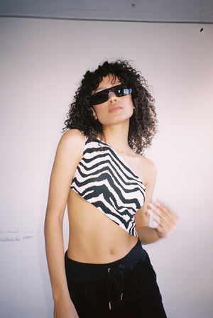 ZEBRA SLASH TOP