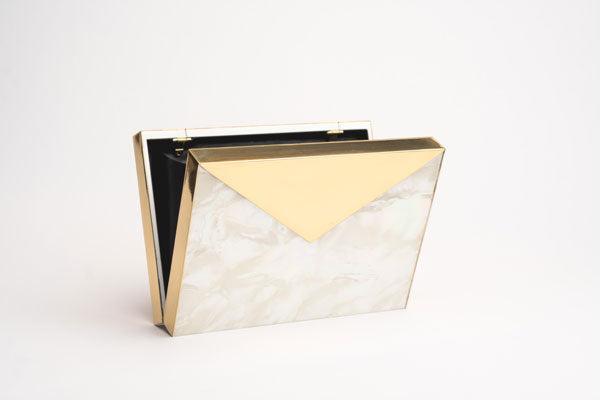 Envelope clutch with MOP (Mother of Pearl)