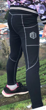 Frieza Tights - Full length black (grey stitching)