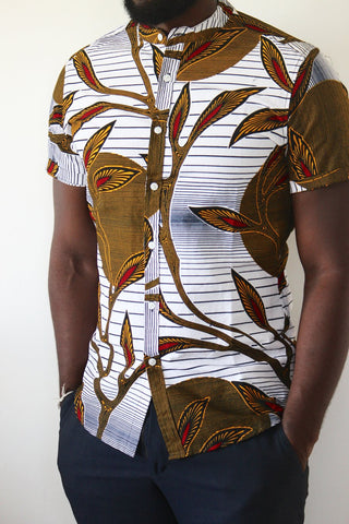 African White stripes shirt