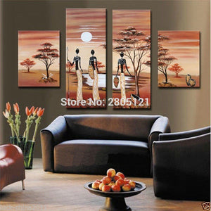 Home Decorative Art oil Painting brown canvas