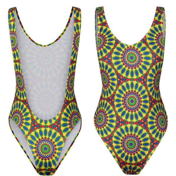 Women's Push Up Swimwear in 3 African Totems Print