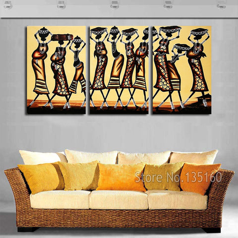 Abstract African Women Wall Art Painting On Canvas