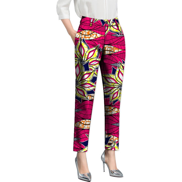 Pants Ladies Dashiki Print Leisure Trousers
