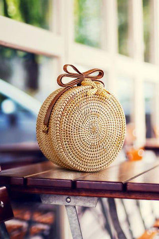 Beach Straw Rattan Bag