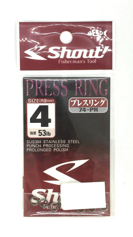 Shout! Press Ring Size 4