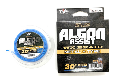 YGK Galis Algon Assist WX Braid Metal in Type 4m Blue 260lb #30