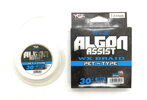 YGK Galis Algon Assist WX Braid Pet in Type 6m White 260lb #30