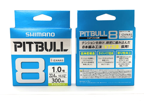 Shimano Pitbull 8 Lime Green 300m Braided PE Fishing Line PL-M78S