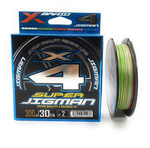 YGK X-Braid Super Jigman X4 Super Quality 4 Braided PE 300m 30lb #2