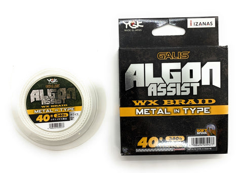 YGK Galis Algon Assist WX Braid Metal in Type 4m White 340lb #40